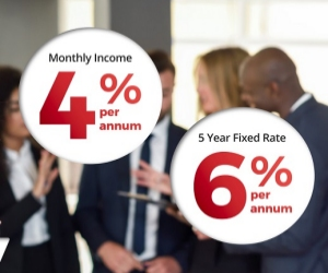 Earn up to 6% interest per annum on your savings.