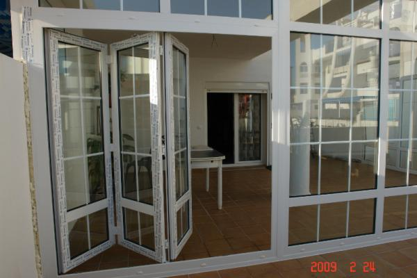 PVC doors & glass curtains Malaga