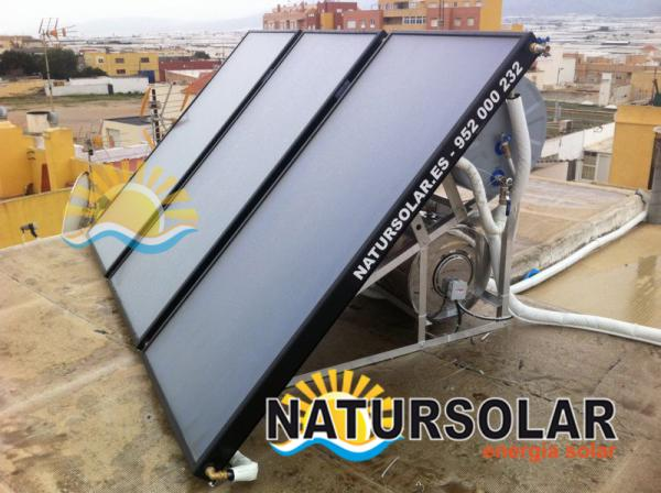 Solar panels thermal energy Estepona