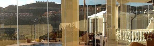 Glass curtains balcony enclosures Nerja
