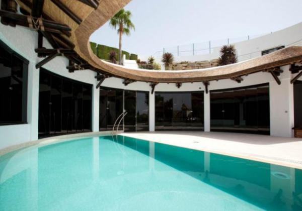 Pool Surround & Stainless Steel Malaga Spain